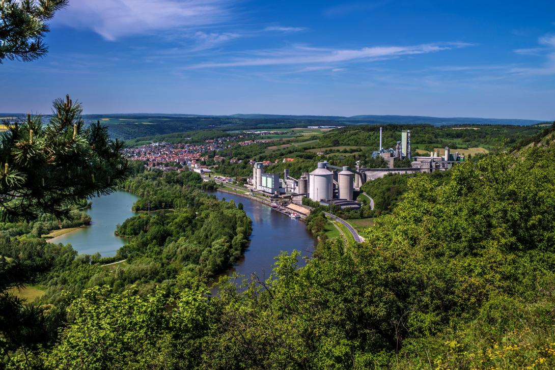 HeidelbergCement plant Lengfurt, Germany.
